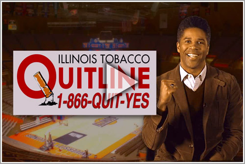 Dr. Hasbrouck congratulates the U of I for going tobacco-free
