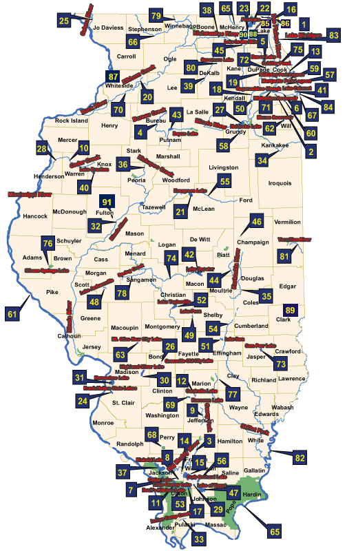 Illinois Fish Advisory Map