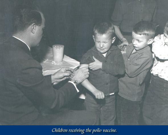 Polio vaccine 1955